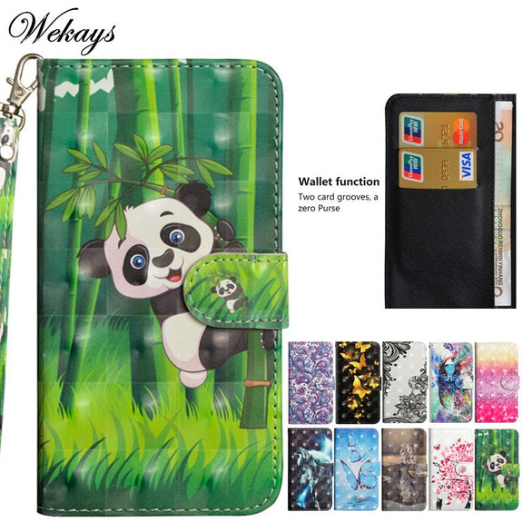 Wekays For Lenovo K8 Note Case Cartoon Panda 3D Leather Flip