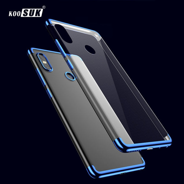 Xiaomi Mi A2 Case Mi Mix 2S Cover Luxury TPU Soft Plating Crystal Clear For Fundas Xiaomi Mi 6X Phone Cases MiA2 Mi Mix 2 Coque