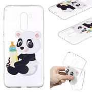 Xiaomi Pocophone F1 Case Cover Cartoon Panda Owl Silicone Phone Case Coque On For Xiaomi Pocophone F1 Xiomi Case Funda 6.18 Inch