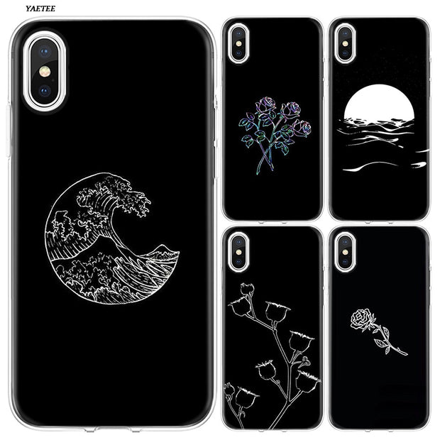 YAETEE Abstract Line Face Art Dark Silicone Case Cover Hull Shell For Apple IPhone 7 8 6 6s Plus X 5 5S SE 5C