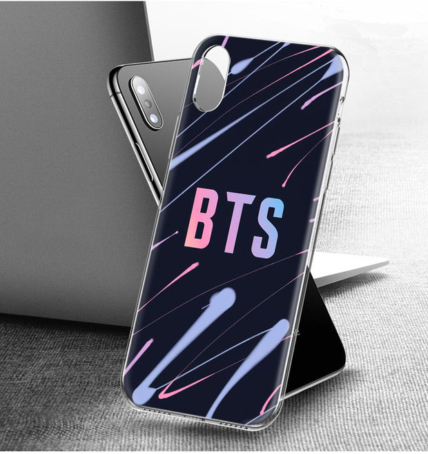 YAETEE BTS Bangtan Hope Silicone Case Cover Hull Shell For Apple IPhone 7 8 6 6s Plus X 5 5S SE 5C