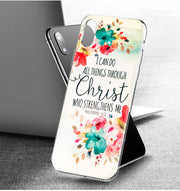 YAETEE Bible Verse Philippians Jesus Christ Christian Silicone Case Cover Hull Shell For Apple IPhone 7 8 6 6s Plus X 5 5S SE 5C