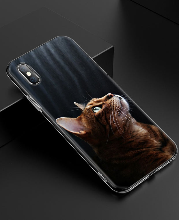 YAETEE Cartoon Cat Cute Mouse Pig Cats Dog Silicone Case Cover Hull Shell For Apple IPhone 7 8 6 6s Plus X 5 5S SE 5C