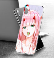 YAETEE Darling In The Franxx Zero Two Silicone Case Cover Hull Shell For Apple IPhone 7 8 6 6s Plus X 5 5S SE 5C