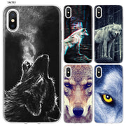 YAETEE Fierce Snow Wolf Silicone Case Cover Hull Shell For Apple IPhone 7 8 6 6s Plus X 5 5S SE 5C