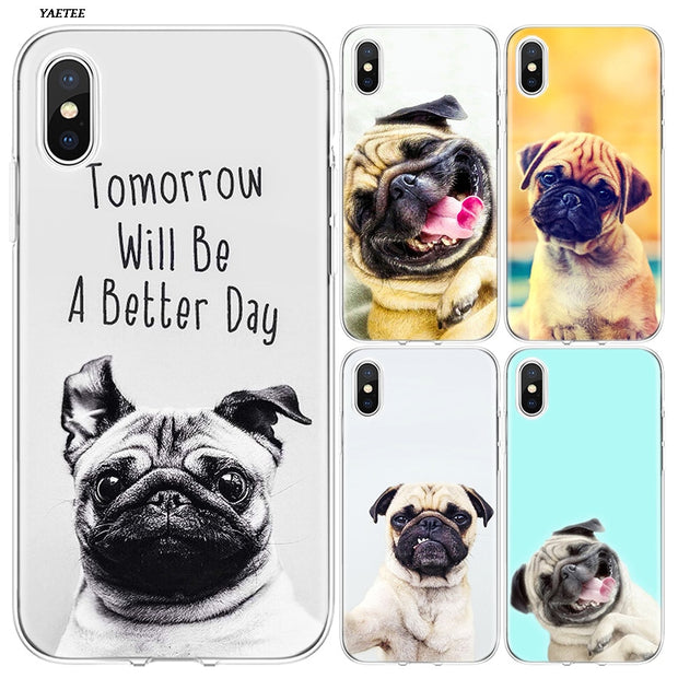 YAETEE French Bulldog Lovely Dachshund Silicone Case Cover Hull Shell For Apple IPhone 7 8 6 6s Plus X 5 5S SE 5C