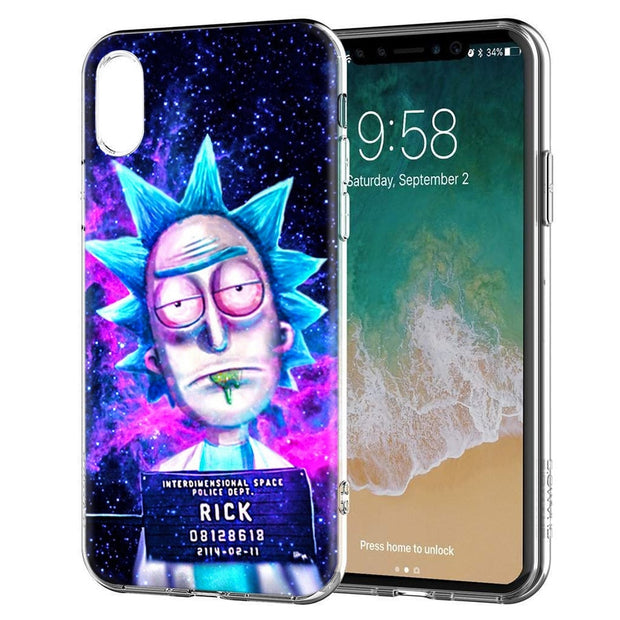 YAETEE Funny Cartoon Rick And Morty Silicone Case Cover Hull Shell For Apple IPhone 7 8 6 6s Plus X 5 5S SE 5C