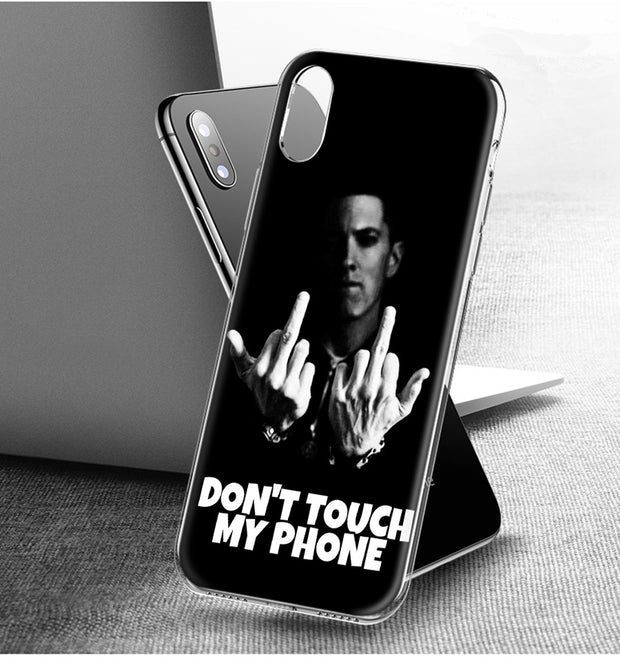 4ec9861331c YAETEE Hip Hop Rapper Eminem Rap Silicone Case Cover Hull Shell For Apple IPhone  7 8