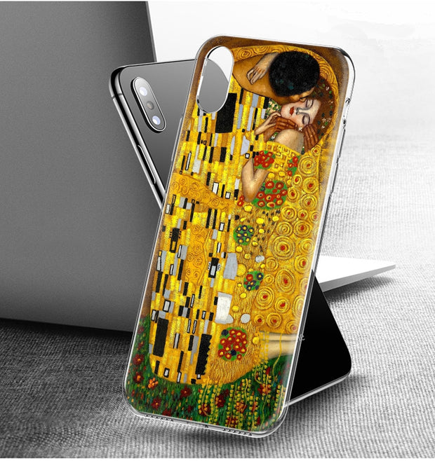 YAETEE Kiss By Gustav Klimt Silicone Case Cover Hull Shell For Apple IPhone 7 8 6 6s Plus X 5 5S SE 5C
