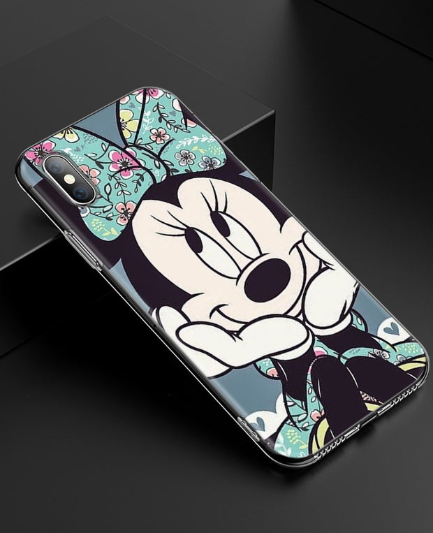 YAETEE Minnie Mouse Girls Cute Silicone Case Cover Hull Shell For Apple IPhone 7 8 6 6s Plus X 5 5S SE 5C