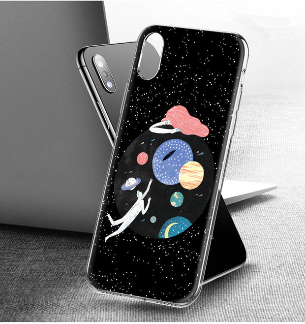 YAETEE Move On Space Silicone Case Cover Hull Shell For Apple IPhone 7 8 6 6s Plus X 5 5S SE 5C