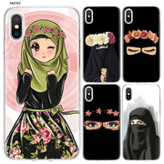 YAETEE Muslim Islamic Girl Eyes Hijab Unique Silicone Case Cover Hull Shell For Apple IPhone 7 8 6 6s Plus X 5 5S SE 5C