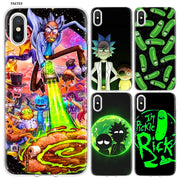 YAETEE Rick And Morty Cartoon Network Silicone Case Cover Hull Shell For Apple IPhone 7 8 6 6s Plus X 5 5S SE 5C