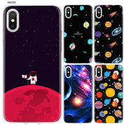 YAETEE Space Star Silicone Case Cover Hull Shell For Apple IPhone 7 8 6 6s Plus X 5 5S SE 5C