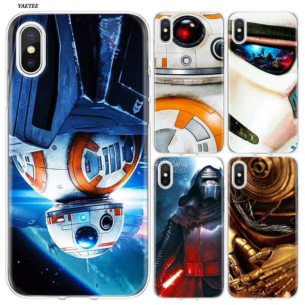 YAETEE Star Wars Darth Vader Yoda Silicone Case Cover Hull Shell For Apple IPhone 7 8 6 6s Plus X 5 5S SE 5C