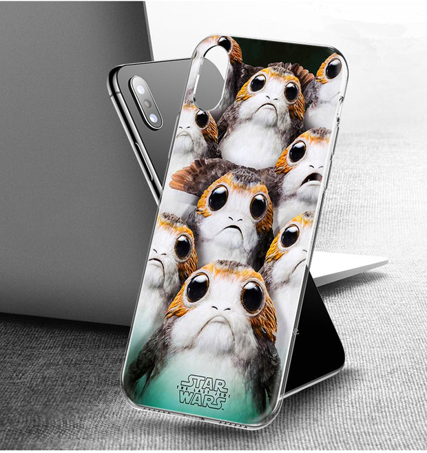 YAETEE Star Wars The Last Jedi Porgs Silicone Case Cover Hull Shell For Apple IPhone 7 8 6 6s Plus X 5 5S SE 5C