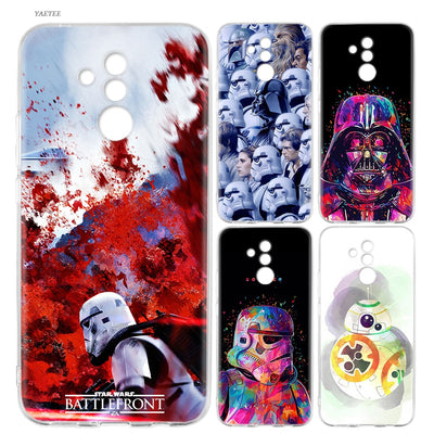 YAETEE Star Wars Watercolor Silicone Case Cover Coque For Huawei Mate 20 10 Pro P20 P10 P9 P8 Lite 2017
