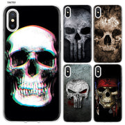 YAETEE Super Cute Skull Silicone Case Cover Hull Shell For Apple IPhone 7 8 6 6s Plus X 5 5S SE 5C