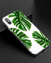 YAETEE Tropical Leaves Palms Tree Silicone Case Cover Hull Shell For Apple IPhone 7 8 6 6s Plus X 5 5S SE 5C