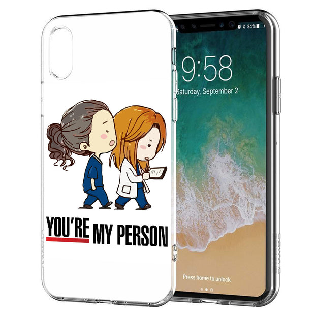 YAETEE You're My Person Silicone Case Cover Hull Shell For Apple IPhone 7 8 6 6s Plus X 5 5S SE 5C