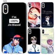 YAETEE Bts Jungkook And Jin Silicone Case Cover Hull Shell For Apple IPhone 7 8 6 6s Plus X 5 5S SE 5C
