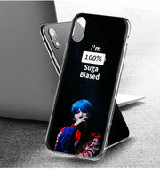 YAETEE Bts Suga Silicone Case Cover Hull Shell For Apple IPhone 7 8 6 6s Plus X 5 5S SE 5C