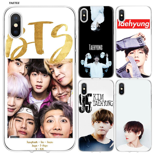 YAETEE Bts Taehyung Silicone Case Cover Hull Shell For Apple IPhone 7 8 6 6s Plus X 5 5S SE 5C