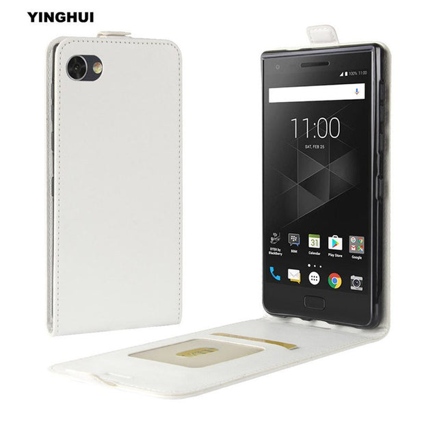 "YINGHUI For Blackberry Motion 5.5"" Vintage Silicone Soft Inner Fundas Flip Cover Bag UP-Down Open Crazy Horse Leather Phone Case"