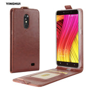 "YINGHUI For Blackview A10 Classic UP-Down Open Crazy Horse Pattern Leather Case Flip Magnet Coque Bags 5"" Protective Phone Cover"