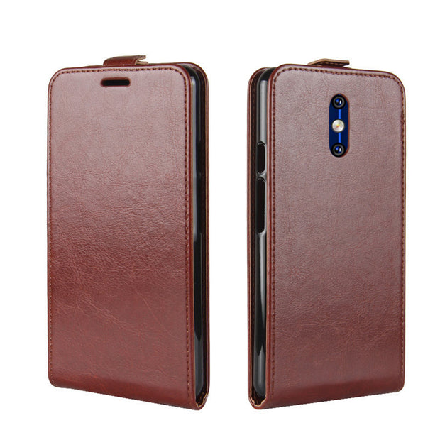 "YINGHUI For Doogee BL5000 UP-Down Open Coque Skin Bag 5.5"" Crazy Horse Vertical Leather Flip Magnet Protective Phone Cover Case"