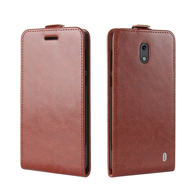 YINGHUI For Nokia 2 Classic UP-Down Open Crazy Horse Pattern Leather Shell Case Flip Magnet Protective Phone Cover Nokia2 Bag 5""