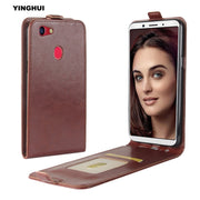 YINGHUI For OPPO F5 6inch Fashion UP-Down Open Flip Protective Phone Case Vertical Crazy Horse Pattern Leather Shell Cover Coque
