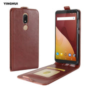 "YINGHUI For Wiko View Prime 5.7"" Vertical Flip Magnet Protective Silicone Soft Skin Cover Crazy Horse Pattern Leather Phone Case"