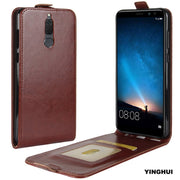 YINGHUI UP-Down Open Flip Protective Phone Case For Huawei Mate 10 Crazy Horse Leather Magnet G10 Coque Skin Cover Maimang6 5.9""