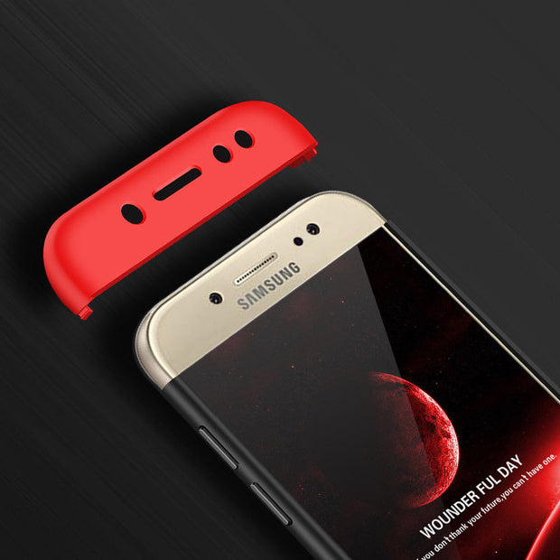 YISHANGOU Luxury 360 Degree Protection Phone Cases For Samsung S8 Plus Note8 Galaxy J3 J5 J7 Pro 2017 Hard Pc Plastic Cover Capa