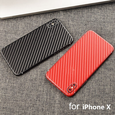 YOJOCK New Phone Case For IPhone X 10 3D Carbon Fiber Full Body Back Film Sticker Case Cover Wrap Skin For IPhone 7 6 6s Plus 5s