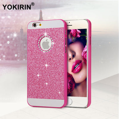 YOKIRIN Glitter Powder Rhinestone Bling Luxury Diamond Crystal Hard Back Cover For IPhone 5 5S SE 6 6S Plus Sparkling Case