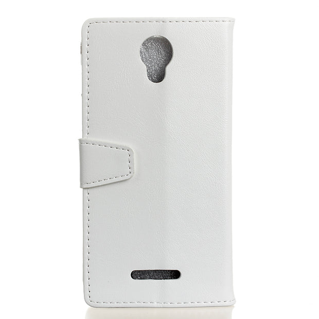 YRFF Case For Alcatel PIXI4 OT5010D Classic PU Leather Phone Cases For Alcatel Pixi4 Plus Power Back Cover Holder Holster