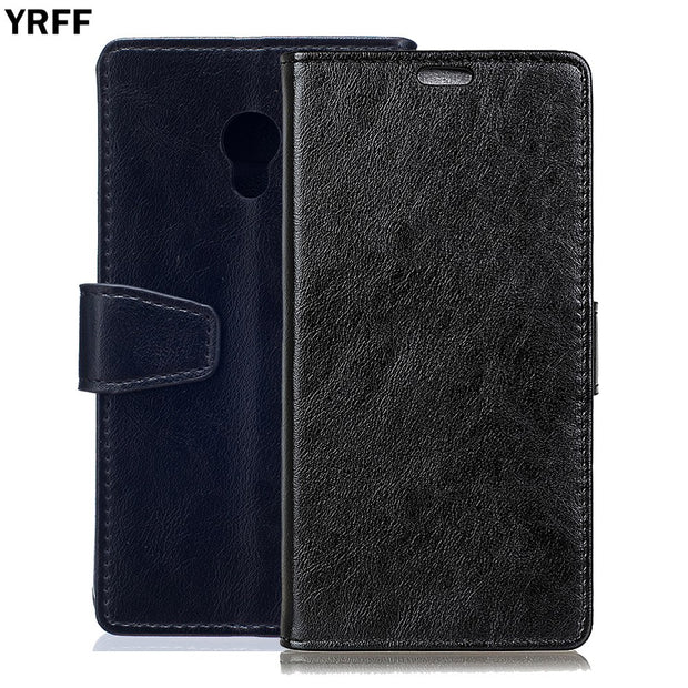YRFF Case For Alcatel Pixi4 5.5 Classic PU Leather Phone Cases For Alcatel Pixi 4 Pixi4 5.0 4G OT5045 Back Cover Holder Holster