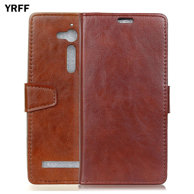 YRFF Fashion With Card Pocket Flip Leather Phone Cover Cases For ASUS ZB452KL ZB500KL ZB552KL Case
