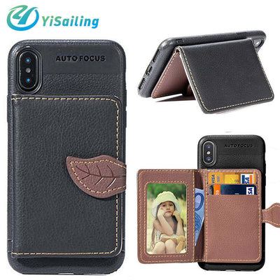 YiSailing Wallet Bracket Case For IPhone 7 Plus Case Leather Cover Up Multifunctional Phone Bag For IPhone 6 6S Plus 8 Plus X