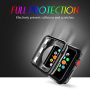 Yikola 38mm 42mm For Apple Watch Series 1/2/3 Screen Protector Ultra Slim Plating TPU Soft Case Cover For Apple Watch Case