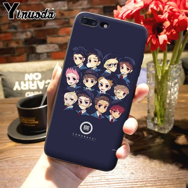 Yinuoda Kpop Exo Lucky One Diy Cell Phone Protective Case For Iphone 7 Nox Cases