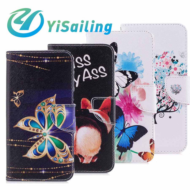 Yisailing For Iphone 7 Case Flip Wallet Bracket Fall Proof Leatherfor Iphone 7plus 8 Plus 6 6S 6plus X Back Cover Phone Bag