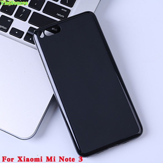 Yisisource For Xiaomi Mi Note 3 Case Soft TPU Silicone Case Slim Shockproof Phone Back Cover For Xiaomi Mi Note 3 Shell Coque