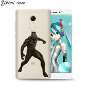 Ykimi Case Black Panther Cover For Xiaomi Redmi 4x 4a 5 Plus 5a 6 Pro Note 4x 5 Pro 5a Case Transparent Soft TPU Silicone