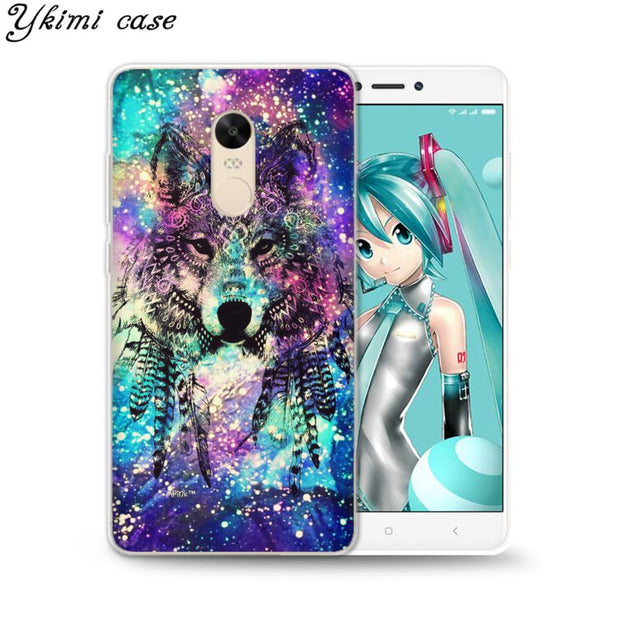 Ykimi Case Colorful Animals Cover For Xiaomi Redmi 4x 4a 5 Plus 5a 6 Pro Note 4x 5 Pro 5a Case Transparent Soft TPU Silicone