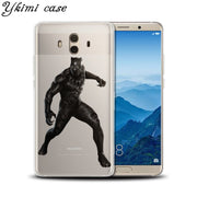 Ykimi Case Soft TPU Silicone Black Panther Cover For Huawei MATE 8 9 10 Lite Pro Nova Lite 2 2s 3 3i 3e Case