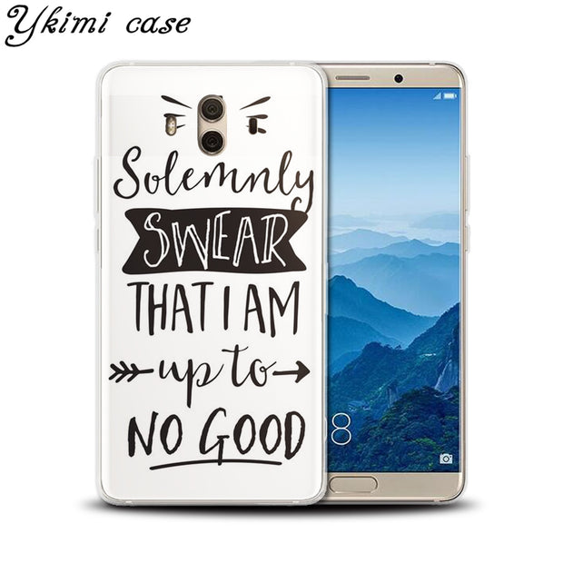 Ykimi Case Soft TPU Silicone Cartoon Text Harry Potter Cover For Huawei MATE 8 9 10 Lite Pro Nova Lite 2 2s 3 3i 3e Case