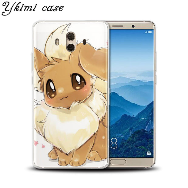 Ykimi Case Soft TPU Silicone Cute Cartoon Pokemon Cover For Huawei MATE 8 9 10 Lite Pro Nova Lite 2 2s 3 3i 3e Case
